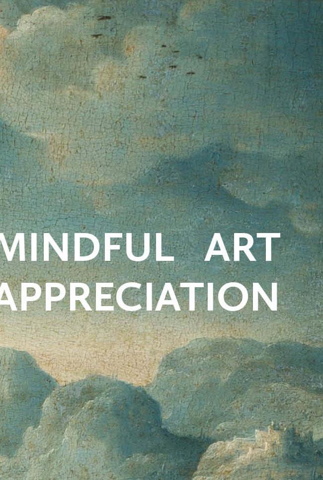 Affiche mindful art appreciation